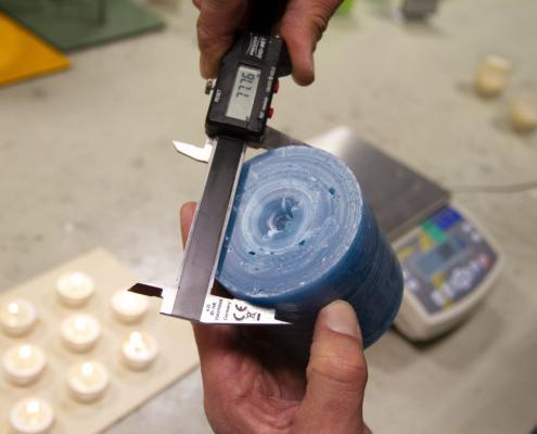 Einhaltung der Abmessungen und Erreichen der Brenndauer Bewertung