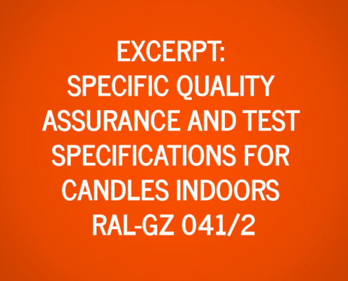 Extract from the Specific Quality Assurance and Test Specifications for Candles Indoors RAL-GZ 041/2