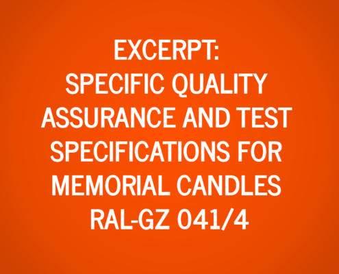 Extract from the Specific Quality Assurance and Test Specifications for Memorial Candles RAL-GZ 041/4