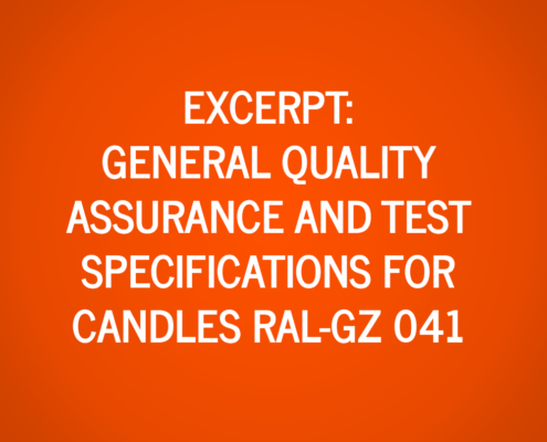 Extract from General Quality Assurance and Test Specifications for Candles RAL-GZ 041